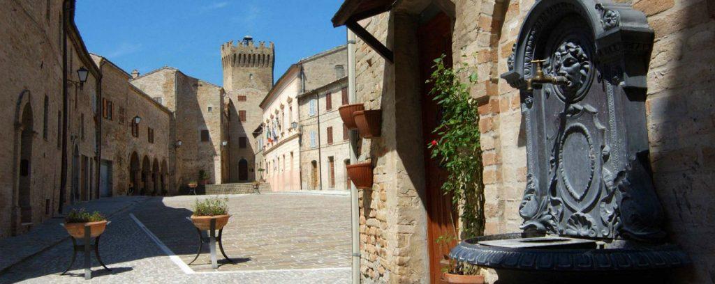 Moresco, vicino Fermo uno dei borghi più belli d'Italia.
